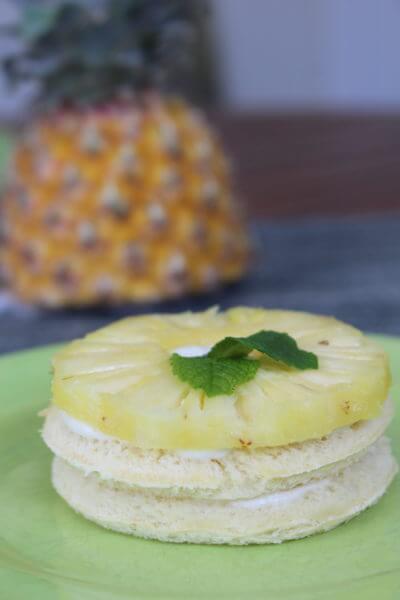 Tartine façon dessert ananas coco